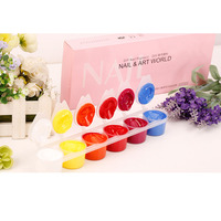 12 Colors/Set Manicure Gel Nail Polish Candy Color Nail Art Paint with Brush Pen DIY Colorful Nail Art Polish