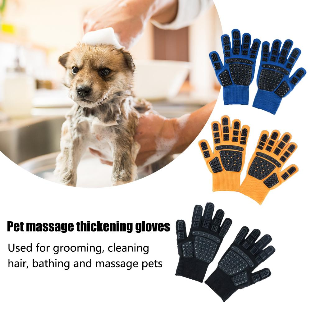 Pet Cat Glove For Animal Comb Cat Grooming Supply Cleaning Glove Deshedding Right Hand Hair Removal Brush Finger Touch Glove in Dog Towels from Home Garden
