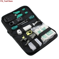 11pcs/ set RJ45 RJ11 RJ12 CAT5 CAT5e portable LAN network repair kit Utp cable tester crimping head clamp PC