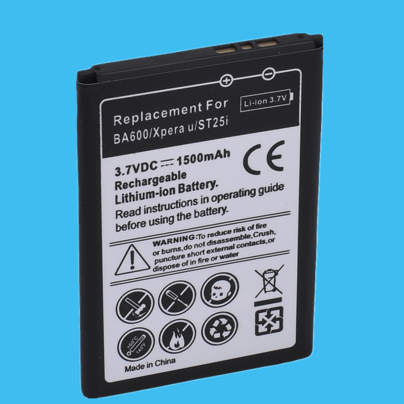 US $7 7 23% OFF|Retail 1PC Replacement Battery 1500mah For Sony Xperia U  ST25I High Quality-in Mobile Phone Batteries from Cellphones &