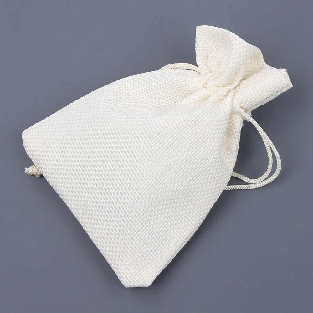 1 adet alışveriş çantası Pamuk Keten Saklama paket torbaları İpli Çanta Küçük bozuk para cüzdanı Seyahat kadın elbisesi Çantası hediye kesesi
