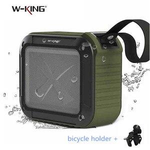 Image 1 - W King Portable Bluetooth Speaker S7 Waterproof Wireless Music Subwoofe Radio Box Anti Drop Outdoor Bicycle TF Card Loudspeakers