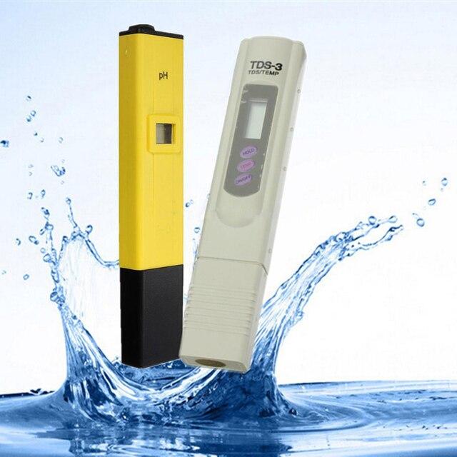 Portable Digital PH Meter + TDS Tester Pen Water Analysis Monitor PH Meters for Aquarium Pool Water Lab Water Quality Meter