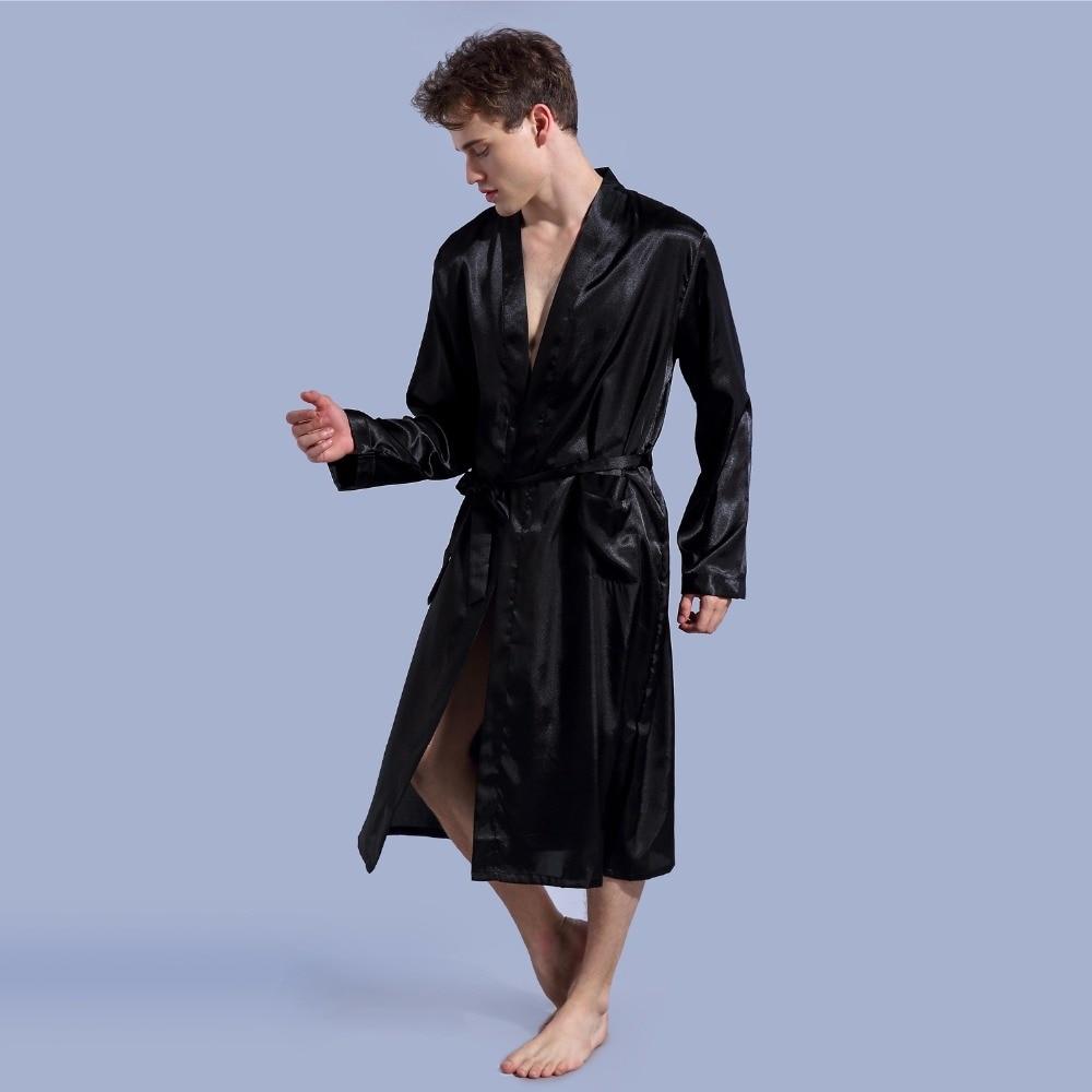 1844 marke Lange Robe Emulation Seide Weich Hause Bademantel Plus ...
