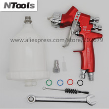 free shipping spray gun LVMP High quality England spray gun paint spray gun sprayer gun air tools for car face paint cheap NTOOLS 600CC 1200rpm Pneumatic Commercial Manufacture 1 4mm Gravity Paint Decorating 1 3 1 4 1 8 can choose