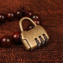 Cerradura con contraseña Zine de aleación creativa, cerradura con código contraseña, caja de pecho de joyería de estilo antiguo chino Vintage, candado pequeño