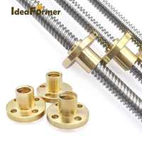 Lead 2mm Diameter 8mm Pitch 2mm Lead Screw Trapezoidal spindle screw Length150mm/200mm/250mm/300mm/350mm with Brass nut