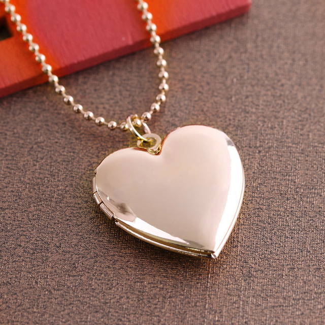 1 Pc Heart Shaped Friend Photo Picture Frame Locket Pendant For