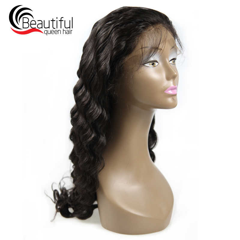 Beautiful Queen Brazilian Loose Wave Glueless full lace wigs human hair Pre Plucked Remy Hair Wigs Women's Wig 10-24 Inch