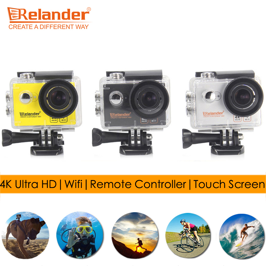 Original Crelander T9 2 Touch Screen Cam Go Extreme Pro Action Camera 4K Ultra HD Surf Diving Waterproof Camera Wifi Sport DVR extreme sports surf