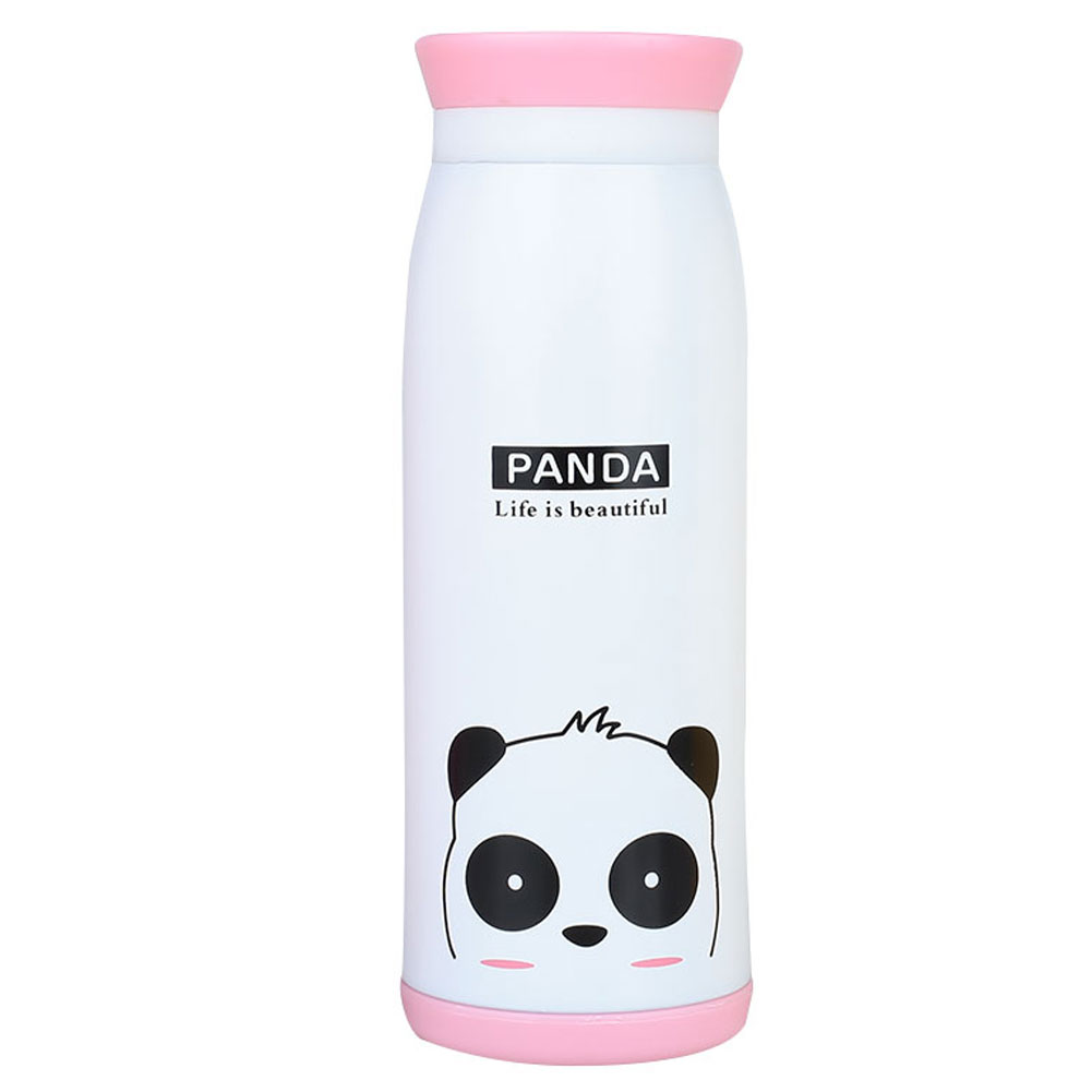Термочашка Вакуумная чашка двухслойная мультфильм изоляционная чашка животный узор чайный напиток креативный - Цвет: Panda
