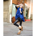 Fashion Women Warm Cape Coat Sleeveless Solid Color Shawl Ruffle Casual Poncho Cardigan Outerwear