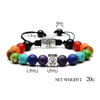 Tree Of Life Chakra Charm Bracelets Multicolor Bead Stones 1
