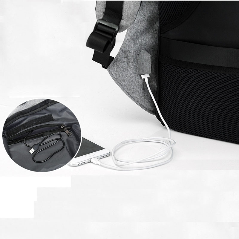 15 inch Laptop Backpack USB Charging Anti Theft Backpack Men Travel Backpack Waterproof School Bag Male Mochila  2