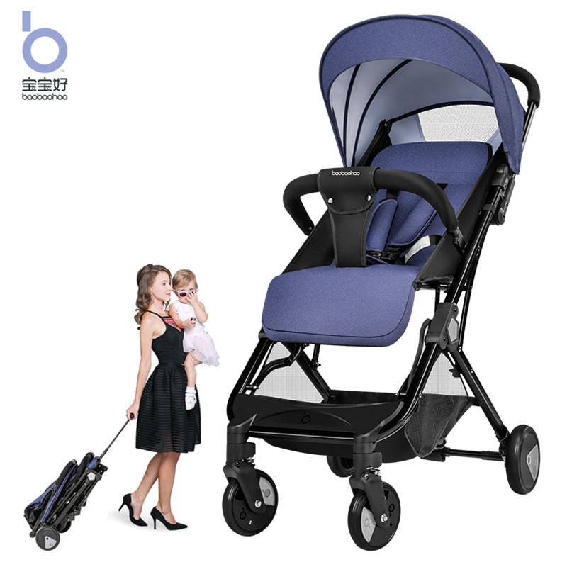 Baby stroller can sit reclining ultra light portable high landscape foldable variable trolley case baby stroller four wheel shoc