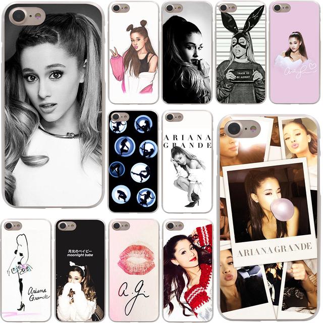 Ariana Grande Hard Case Transparent for iPhone 7 7 Plus 6 6s Plus 5 5S SE 5C 4 4S
