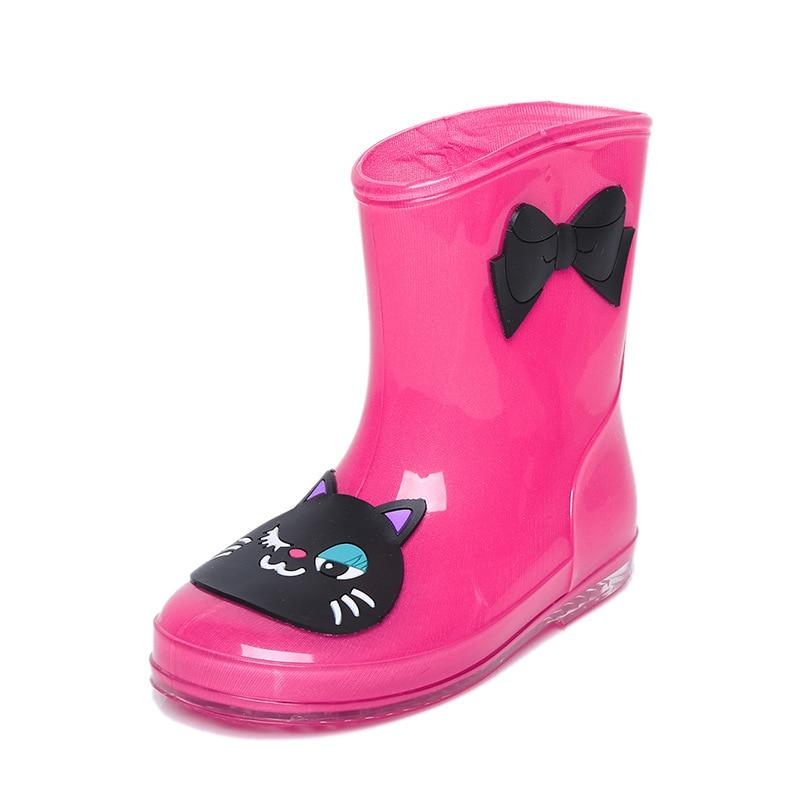 Anak-anak baru Bayi Sepatu Hujan Lucu Kartun Sepatu Hujan Karet Musim Semi Musim Gugur Musim Dingin Untuk Anak-anak Laki-laki Perempuan Sepatu Tahan Air Non Slip