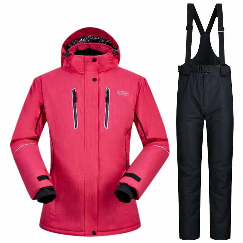 f157121f Высокое качество водостойкий лыжный костюм для женщин зимняя спортивная  одежда женский сноуборд куртка Лыжный Спорт зимние