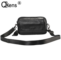 Man Cowhide Genuine Leather Case Casual Shoulder Bag Small Messenger Bag Phone Purcase Waist Belt Pack for Huawei for iPhone XR