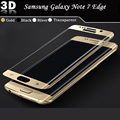 100% new high quality screen protector For Samsung Galaxy Note 7edge 3D surface full coverage Tempered Glass Screen Protector