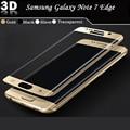 100% nuevo protector de pantalla de alta calidad para samsung galaxy note 7 borde 3d protector de pantalla de cristal templado superficie de cobertura total