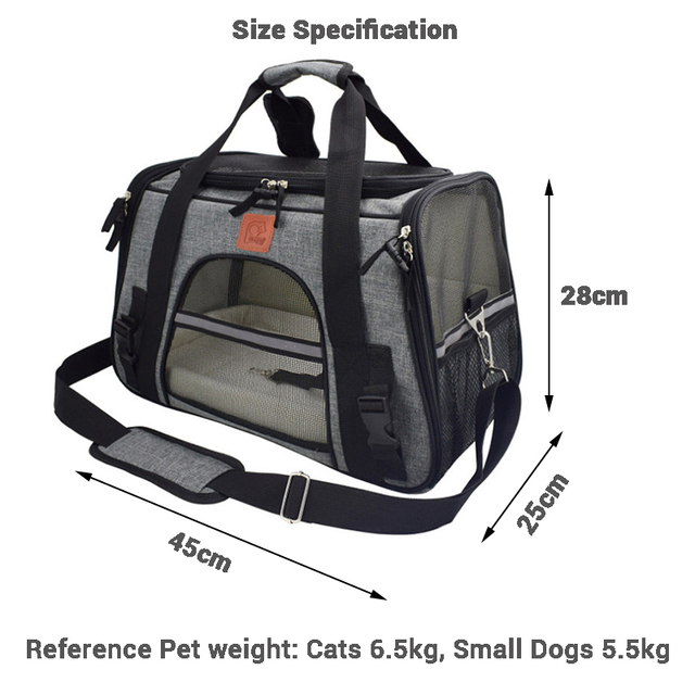 Carrier for Dogs Travel Cat Carrier  Safety Reflective  6