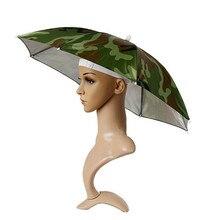 Camouflage  Outdoor Foldable Sun Umbrella Hat Sunshine protect Golf Fishing Camping Headwear Cap Head Hat Umbrella style #10