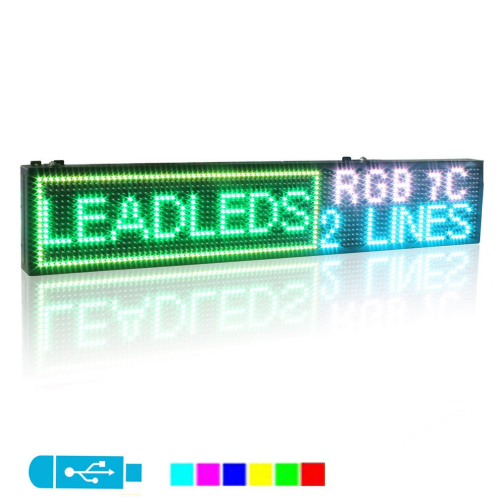 6X 49inch Full color Indoor Programmable LED Scrolling Message Display Board6X 49inch Full color Indoor Programmable LED Scrolling Message Display Board