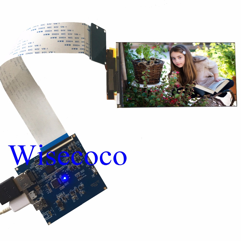 5,5 pulgadas 4 k pantalla lcd 3840*2160 de resolución del Panel Lcd con la pantalla Hdmi a Mipi para VR 2018 y Hmd 3D de impresora diy proyecto