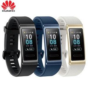 Image 3 - Huawei Band 3 Pro GPS Amoled 0.95 écran tactile couleur étanche en métal course de natation capteur de fréquence cardiaque Bracelet sommeil
