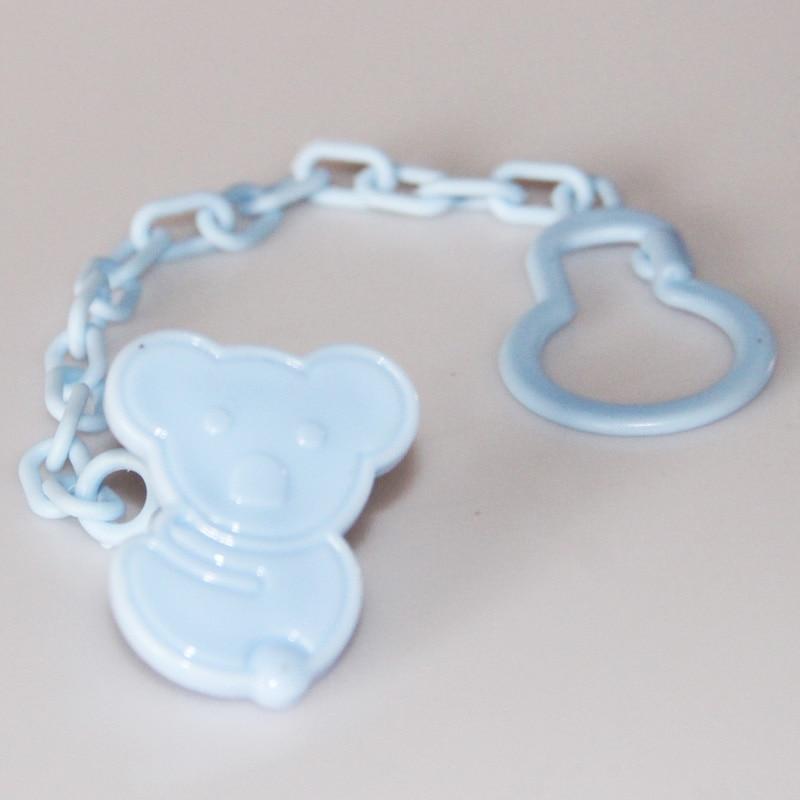 1 шт., Детские зажимы для соски, забавные соски-прорезыватели, аксессуары для сосок, держатель для соски с цепочкой, устойчивый к падению ремень - Цвет: Blue Bear 2