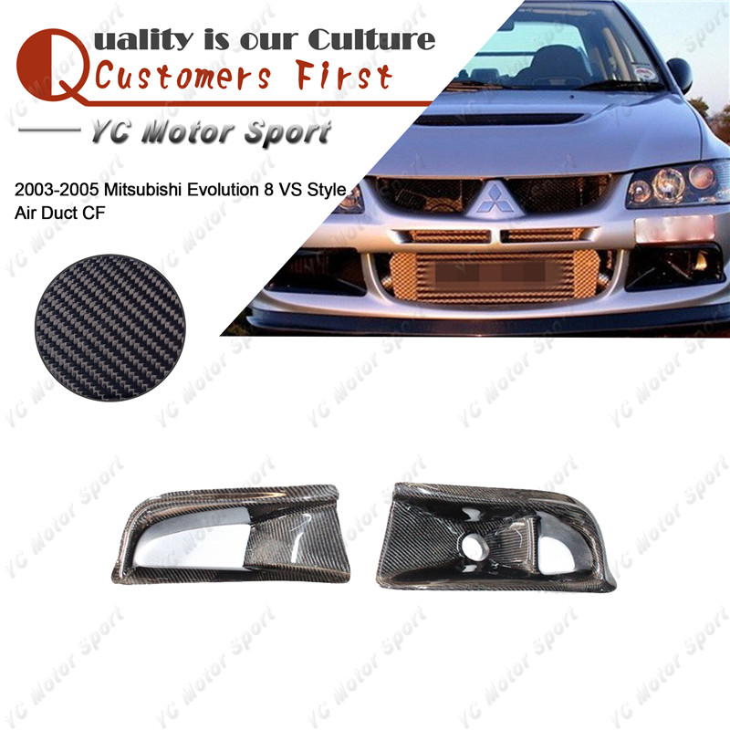 Car Accessories Carbon Fiber Air Duct 2pcs Fit For 2003-2005 Evolution EVO 8 VS Style Air Duct
