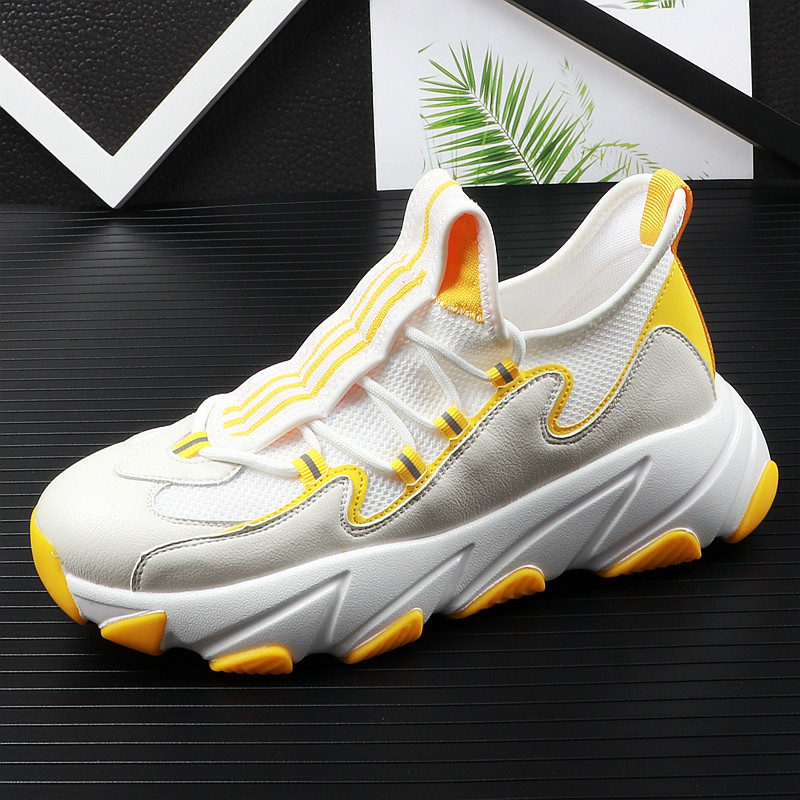 high quality men youth casual shoes thick Bottom mesh Breathable mixed color Platfrom Leisure Shoes For web celebrity 38-43 11