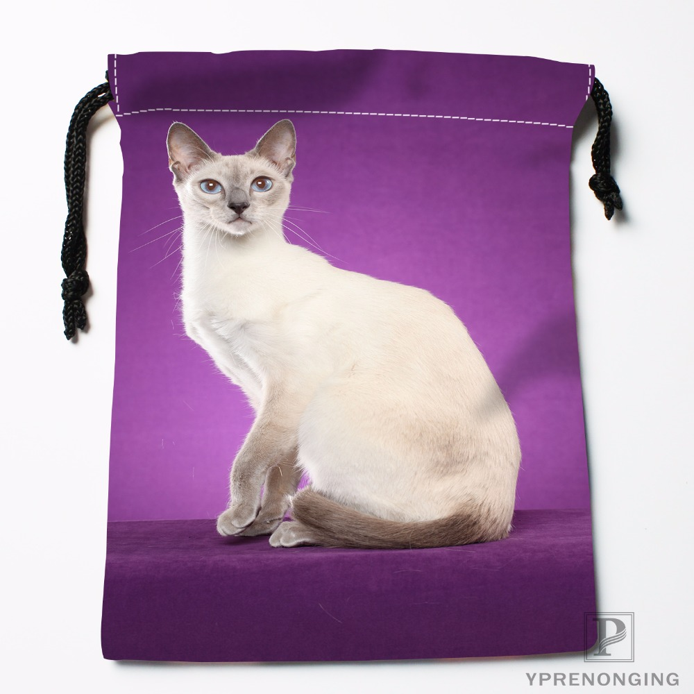 Custom Cats Kitten Rain Animal Drawstring Bags Travel Storage Mini Pouch Swim Hiking Toy Bag Size 18x22cm#0412-04-233