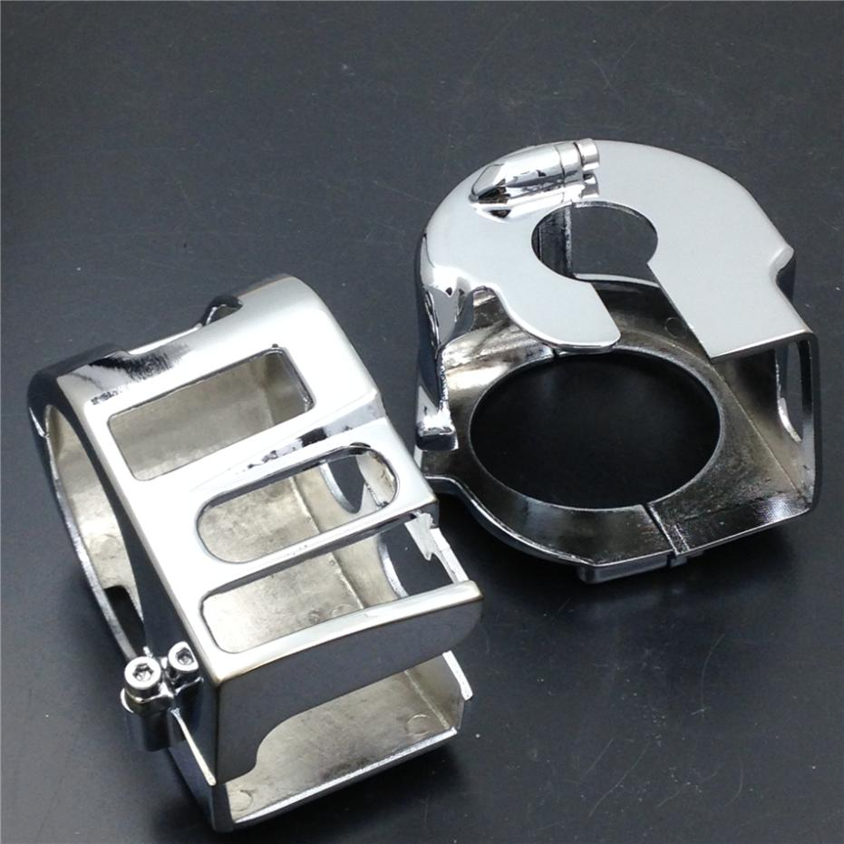 For Motorcycle Yamaha XVS V-Star 1100 Custom XVS1100 1999-2012 CHROME Switch Housing Cover запчасти для мотоциклов yamaha xvs 1100