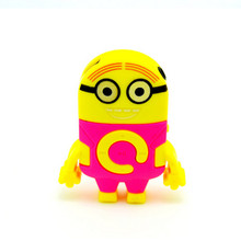 Hot Sell New Fashion Gift Cartoon Despicable Me Minions Portable TF Card Download Free Music MP3 Player With Micro TF Card Slot
