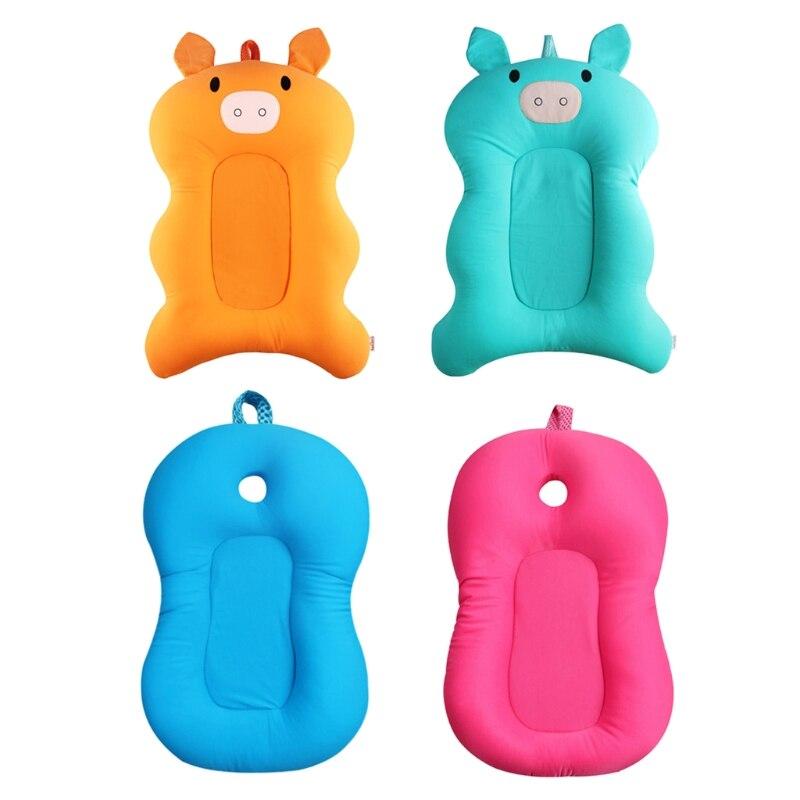 2018 Fashion Newborn Baby Shower Bath Tub Pad Bathroom Antiskid Cushion Safety Products For Children Top Quality