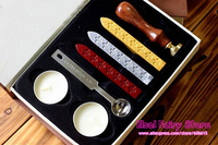 10pcs Set With Gift Box Retro Style Sealing Wax Stamp Set Deluxe Gift Set 26 Alphets