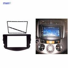Accesorios de coches de Radio Fascia para TOYOTA RAV4 2006-2012 2DIN Coche reposición DVD Radio Audio frame panel Equipo de Tablero envío gratis