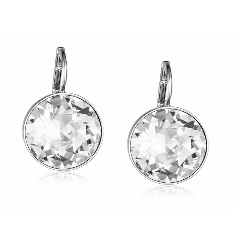 Labekaka clear crystal from swarovski earrings bella pierced drop labekaka clear crystal from swarovski earrings bella pierced drop dangle earrings for women aloadofball Image collections