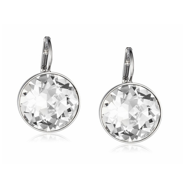 Clear Crystal From Swarovski Earrings Bella Pierced Drop Dangle For Women