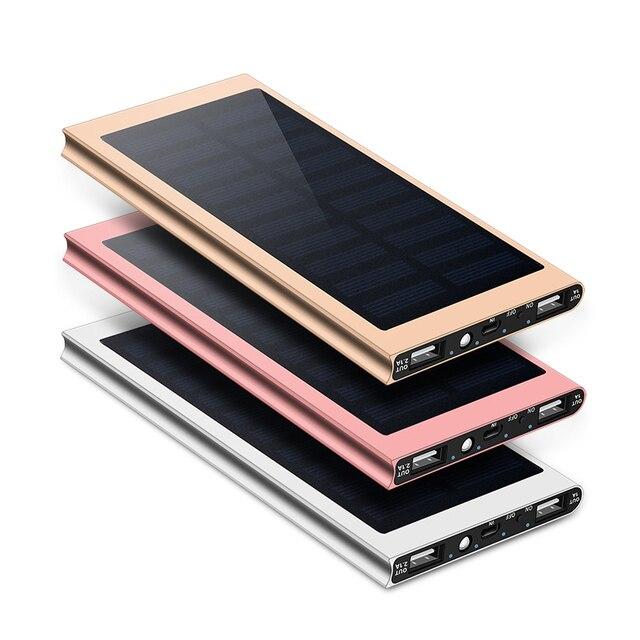 30000 мАч Солнечный запасные аккумуляторы для телефонов внешний батарея зарядки Dual USB мощность банк портативный телефон зарядное устройство для iPhone 8 XS max Xiaomi