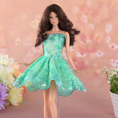 New Arrival Handmade inexperienced  Gown For Princess Pocahontas Gown Outfit Garments For Barbie Doll Lady Present Scorching Promote Child Toys