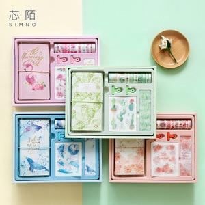 Image 2 - Flamingo Bullet Journal ของขวัญกล่องชุดเกาหลี Freshness ของขวัญนักเรียนเครื่องเขียนโน๊ตบุ๊ค