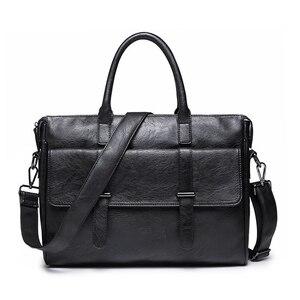 Image 1 - KUDIAN niedźwiedź proste znane marki biznes mężczyźni teczka torba luksusowa skórzana torba na laptopa torba męska na ramię bolsa maleta BIG001 PM49