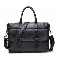 Simple Famous Brand Business Men Briefcase Bag Luxury Leather Laptop Bag Man Shoulder Bag bolsa maleta BIG001 PM49