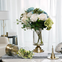 European Wedding Creative Vases Transparent Glass Storage Tank American Home Decoration Craft Alloy Glass Figurines & Miniatures