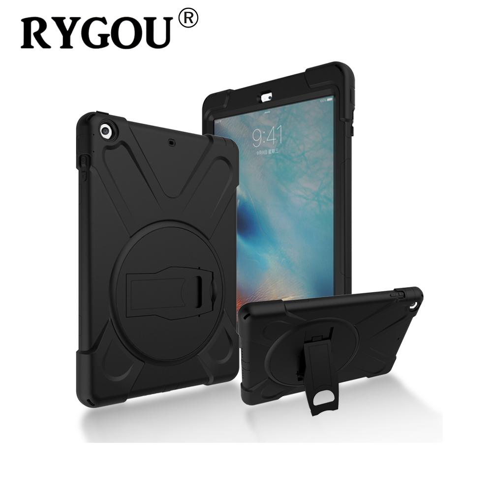 RYGOU For Apple ipad air 1 Case Spider Military Heavy Duty Waterproof Shock Proof Stand Cover Shell for Ipad Air Tablet Case