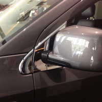 ABS cromado ventanas laterales del coche espejo retrovisor Pilar moldura de cubierta de Marco apto para dodge journey fiat freemont 2013 2014 2015 2016