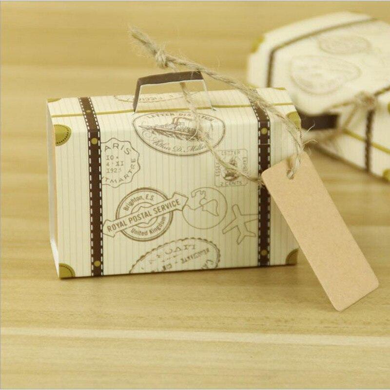 Us 1131 20 Offneue Kreative Mini Koffer Candy Box Süßigkeiten Verpackung Karton Hochzeit Geschenk Box Event Party Supplies Hochzeit